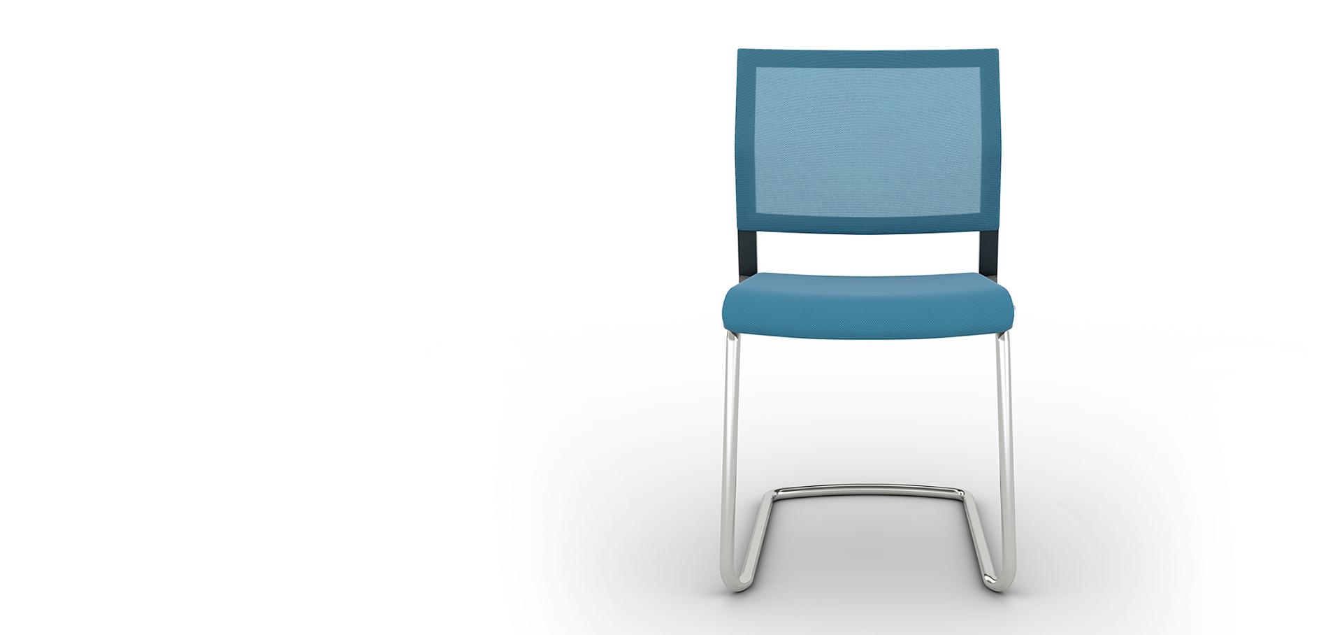 Универсальное немецкое кресло Impulse без подлокотников для посетителей и конференций, исполнение сидение ткань, спинка сетка, опора хром, пружинит, Это кресло обладатель серебряной премии NeoCon 2013